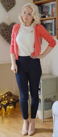 Deconstructed denim jeans