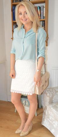 Silk Shirt Lace Skirt